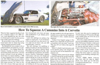Cummins Corvette Gallery
