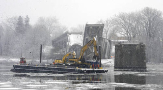 Crown Point Bridge: Demolition Photos