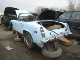 1971 MG Midget Down On The Junkyard