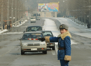 Pyongyang Traffic Girls: Traffic Cop Photos