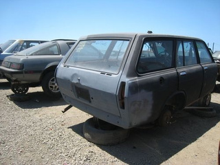 1972 Datsun 510 Wagon Down On The Junkyard