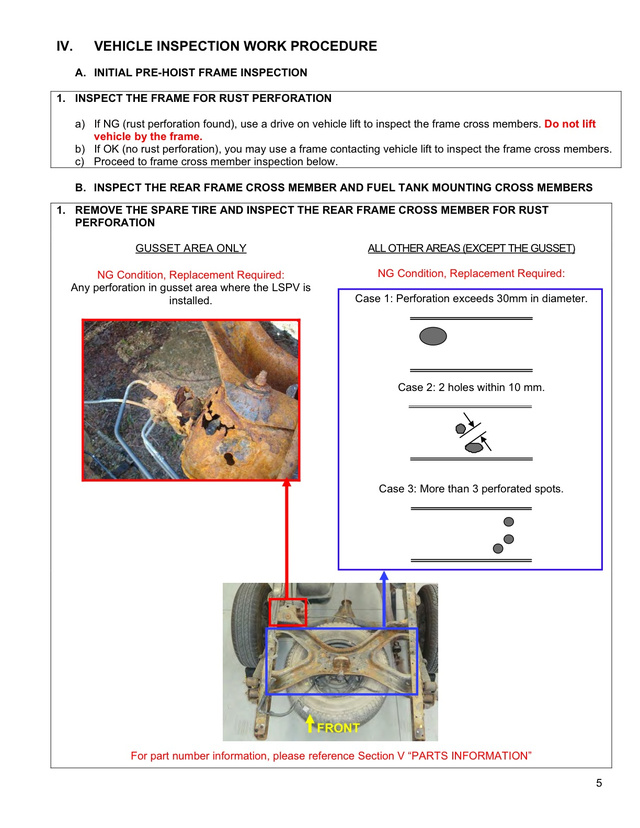 Toyota Tundra Rust Frame Recall: Technical Safety Bulletin Photos