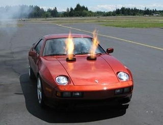 Turbine-Powered Porsche 928