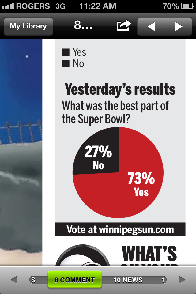 Winnipeg Sun Publishes Unintentionally Brilliant Pie Chart About Super Bowl