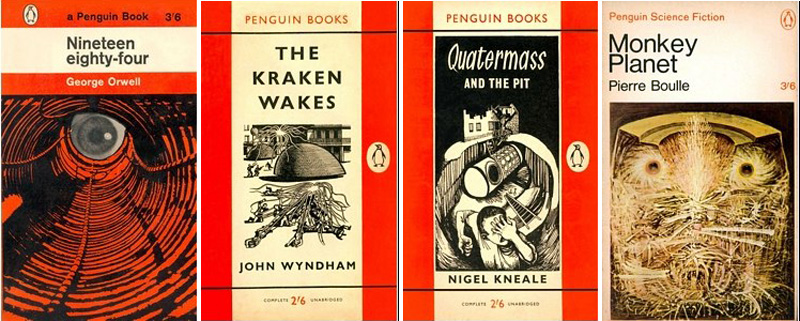 Penguin Book Covers Vintage ~ Classic science fiction book covers from penguin through