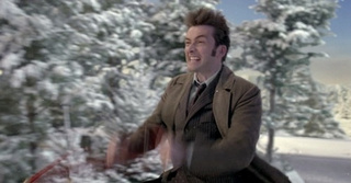 The Doctor Flies His TARDIS Through a Winter Wonderland