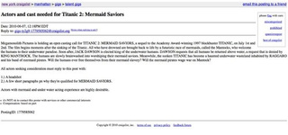 Amazing casting call for Titanic 2: Mermaid Saviors!