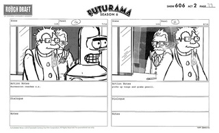 Futurama storyboards