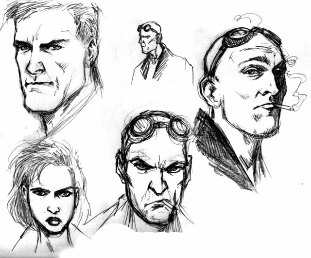 The superhuman concept art from Darick Robertson's The Boys