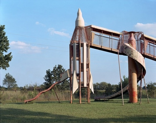 The haunting beauty of abandoned playground rockets