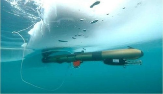 A robot that navigates under the Antarctic ice shelf