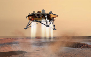 Jumping robots with radioactive rockets could someday explore Mars