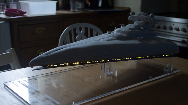 LED-Illuminated Imperial Star Destroyer Must Be the Best Birthday Cake In History