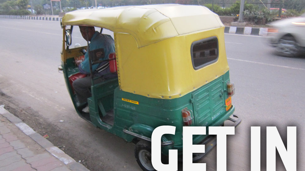 What It's Like Driving An Auto Rickshaw in Delhi Traffic