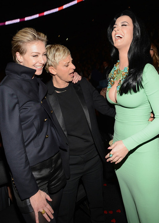 Forget What You Heard: Ellen Staring at Katy Perry's Boobs Is the Only Grammy Moment Worth Revisiting