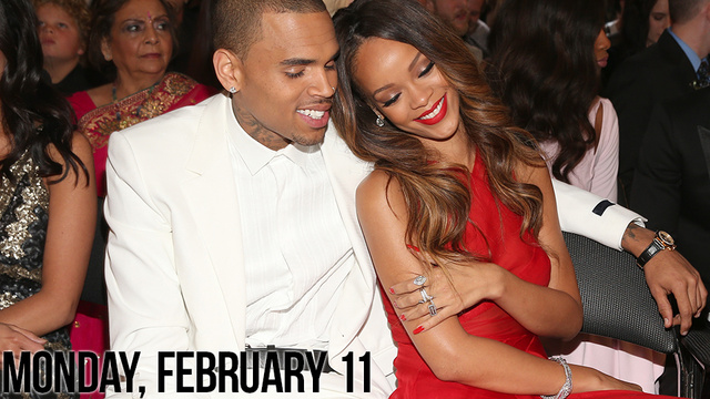 Rihanna and Chris Brown Snuggle At Grammys, Don't Give a Shit