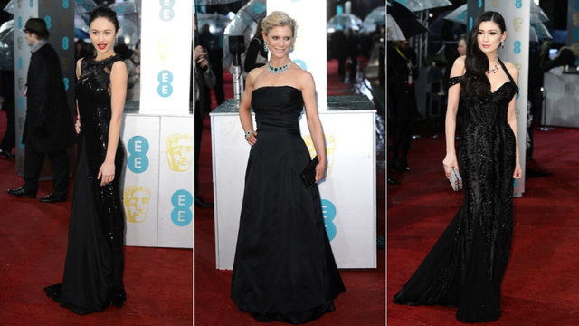 Rain, Stains, and Helen Mirren's Pink Hair at the BAFTA Awards