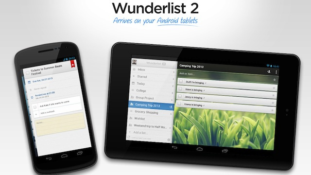 Wunderlist for Android Supports Tablets, Manages Your To-Dos on a Large Screen