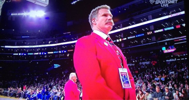 "Will Ferrell Was An Usher At Last Night's Lakers Game, Wore A ""Ted Vagina"" Name Tag"