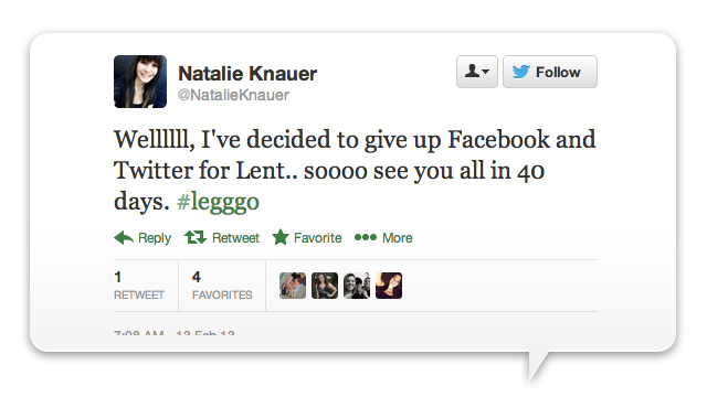 13 Lazy Christians Giving Up Facebook for Lent