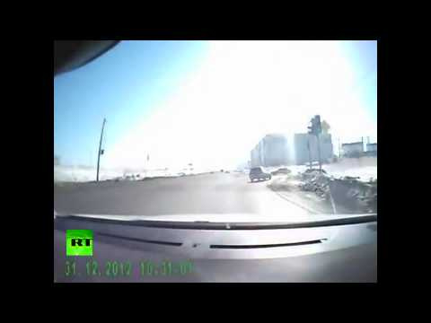 Russian Dashcams Capture Shocking Meteorite Strike