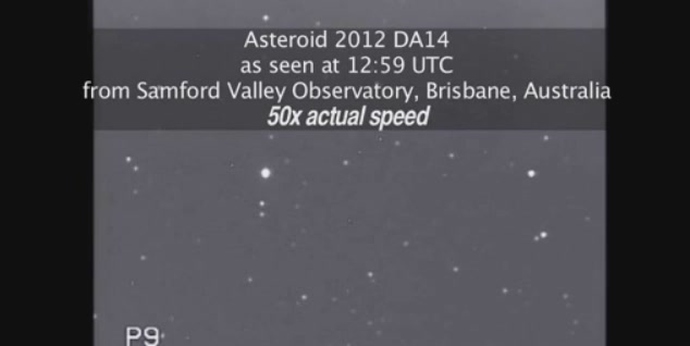 Click here to read Video of Asteroid as It Approaches Earth at Five Miles Per Second