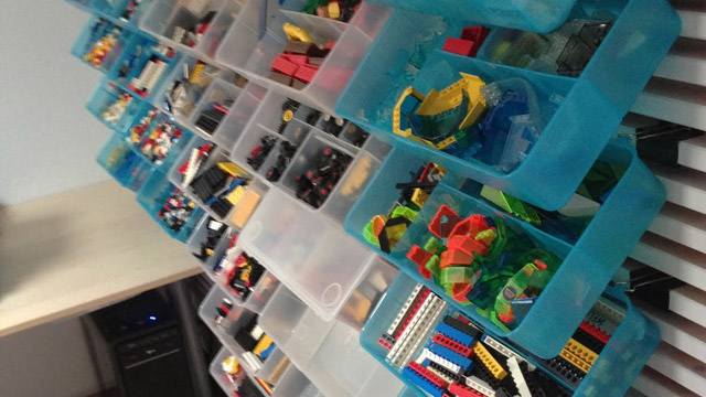 create a storage wall for your lego collection or other small items lifehacker australia. Black Bedroom Furniture Sets. Home Design Ideas