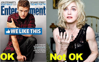 Timberlake's Veins, Unlike Madonna's, Are Just Fine For Publication