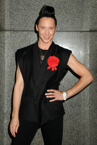 "Johnny Weir Awarded Ribbon For ""Best Pouf"""