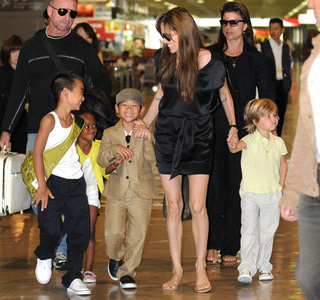 The Jolie-Pitt Clan Loves To Shop Duty-Free