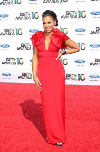 Mad Scientist Uniforms and Georgie O'Keeffe Shoulders at the BET Awards
