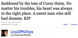 Celebs Mourn The Loss Of Corey Haim