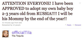 Tila Tequila Says She's Been Approved To Adopt A Russian Baby