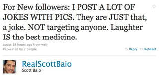 Scott Baio Continues Being Defensive, After Being Offensive