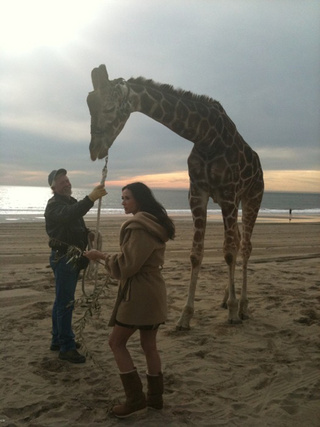 Demi Moore Gets Candid With A Giraffe