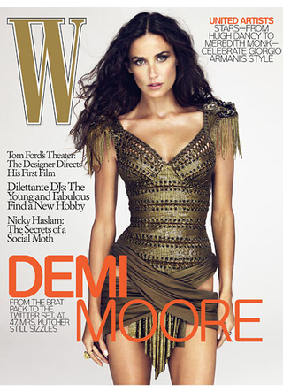 Was Demi Moore Photoshopped Onto Model's Body For W? Not Likely.