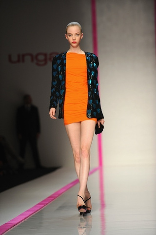 Lindsay Lohan Makes Her Debut As Ungaro's Artistic Director At Paris Fashion Week