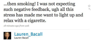 Lauren Bacall Wants A Cigarette; Tyra Wants Bacon