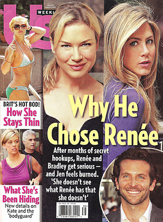 This Week In Tabloids: Brad's A Drunk, Jon's A Dirtbag, Jen Loses To Renée