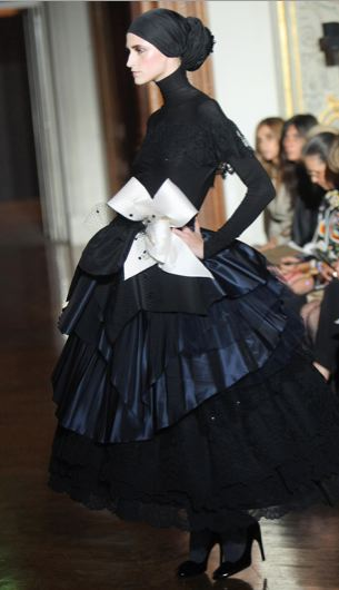 Christian Lacroix Couture Show A Blitz Of Somber Creativity For Dark Times