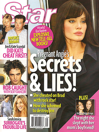 This Week In Tabloids: Angelina Cheated On Brad With Blonde Female Rocker