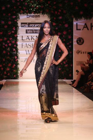 Naomi Rocks Saris In Mumbai; First American Woman In Space Shilling For Louis Vuitton