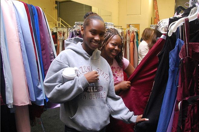 Prom Dress Charity In South Central Feeling Recession's Pinch