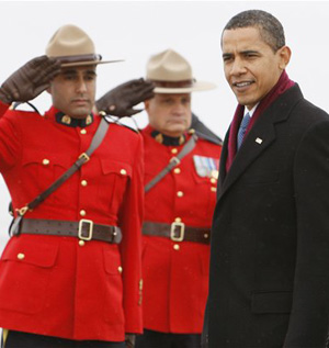 Obama Meets The Mounties, Gets Some Beaver Tail