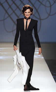 51-Year-Old Gallic Supermodel Walks For Gaultier