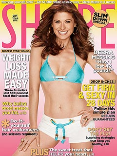 Debra Messing Drops Baby Weight; Clooney & Jackman Fake Fight