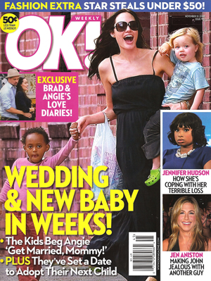 Olsen Twins Planning Boob Jobs, Brad Planning Affair, Aniston Knocked Up & Planning Wedding