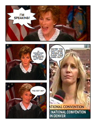 Comic Confrontations: Judge Judy Vs. Crazy Hillary Supporters