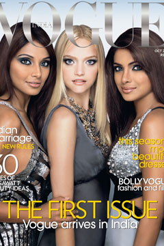 Vogue India Debuts With Australian Blonde On Front, Bleeding Heart Inside?