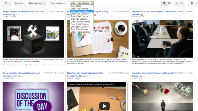 Grid Preview Brings a New, Image-Focused Layout to Google Reader